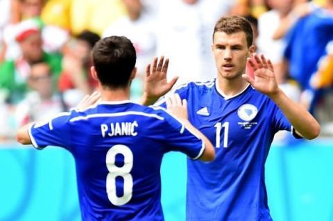 Dzeko et Pjanic internationaux bosniens