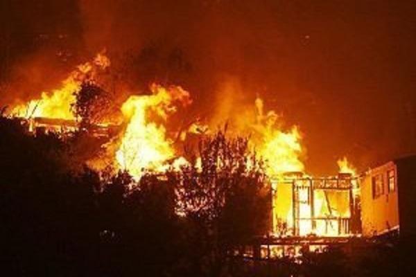 Violent Incendie Au Parc Lambaye De Pikine