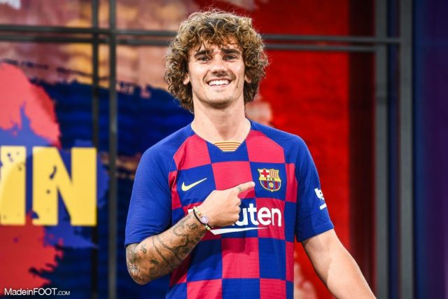 Antonie Griezmann During His Presentation As Fc Barcelona New Player Camp Nou Stadium Barcelona Spain 14 July 2019 20190714212700 9127