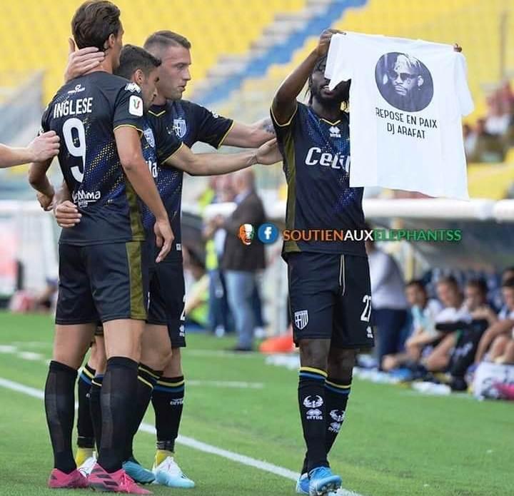 Football: depuis l'Italie, Gervinho rend un vibrant hommage à Dj Arafat