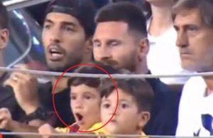 Mateo Messi Celebrando Un Fallo Del Barcelona Contra El Betis Twitter