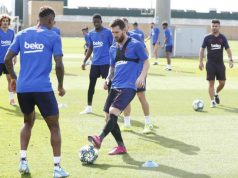 Dembele Et Messi A L Entrainement.