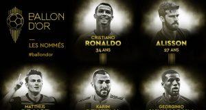 3e Liste Ballon Dor
