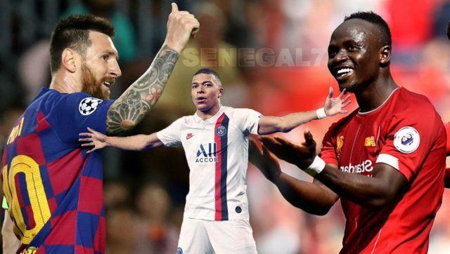 Sadio Mané Messi Mbappé