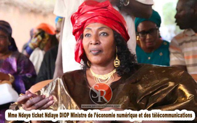 Mme Ndeye Ticket Ndiaye DIOP Ministre De L'économie Numérique Et Des Télécommunications