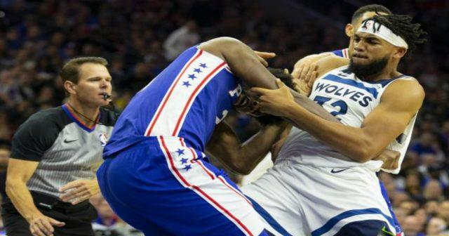 Video Nba Violente Bagarre Entre Le Basketteur Camerounais Joel Embiid Et Karl Anthony Towns En Plein Match 20 702044661