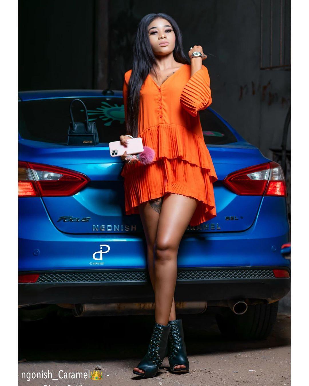 (14 Photos) Ngonish Caramel envoûte la toile avec sa silhouette de mannequin