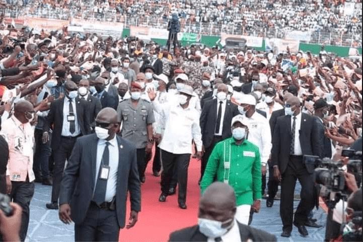 Photos - Cote d'Ivoire: Alassane Ouattara officiellement investi candidat du Rhdp