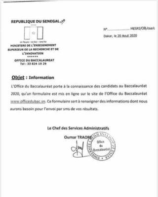 Bac 2020: La proclamation des résultats se fera par SMS