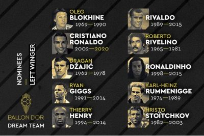 Ballon d'Or Dream Team: Eto'o et Weah, seuls attaquants africains nominés