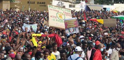 Vidéo - Forte mobilisation des guinéens de Dakar ce vendredi à la place de la Nation