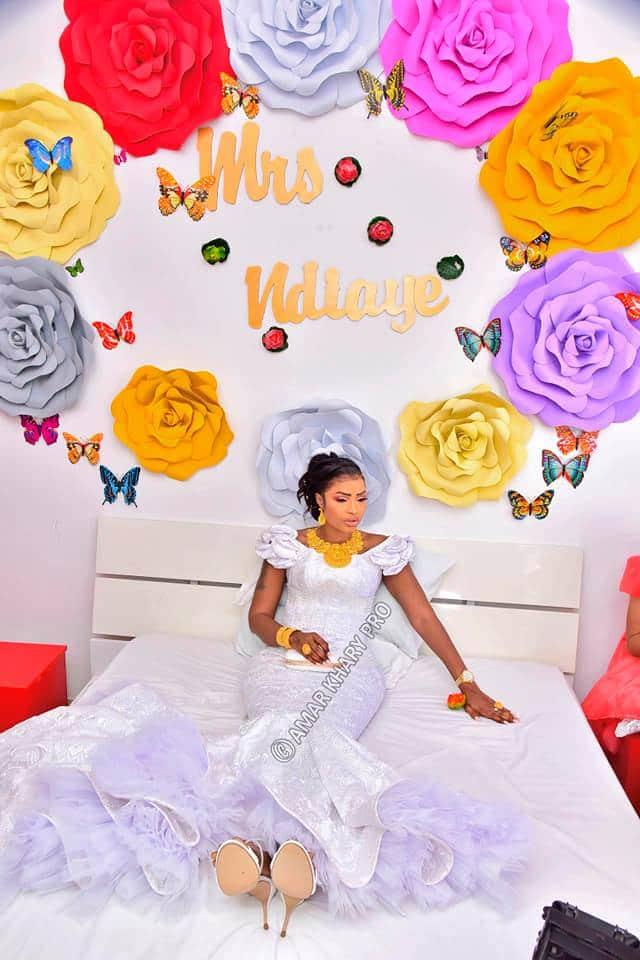 Les Images Exclusives De La Nouvelle Mariée Mbathio Ndiaye (Photos)