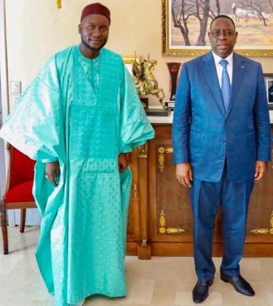 (Photos) Oustaz Modou Fall reçu par le couple présidentiel