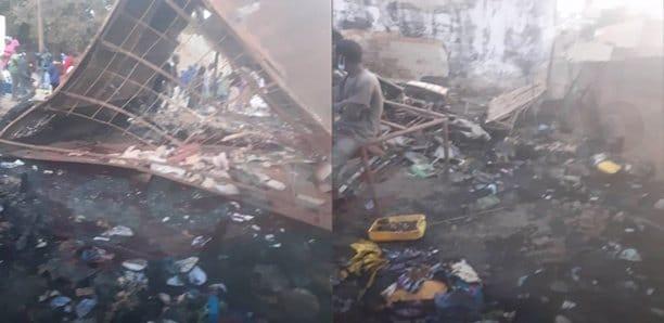 (Photos) Saint-Louis : Les images du violent incendie près de chez Mansour Faye