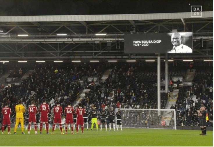 L'hommage de Fulham à Pape Bouba Diop devant Sadio Mané (Photos)