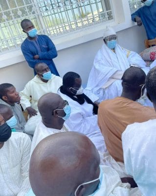 Photos - Rappel à Dieu de Serigne Modou Mokhtar Mbacké: Une délégation du PR menée par le DG de l'ONAS à Darou Marnane