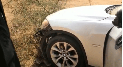 Photos - Darou Moukhty: La voiture de Tawfekh Mbaay fait un accident sur la route du Magal