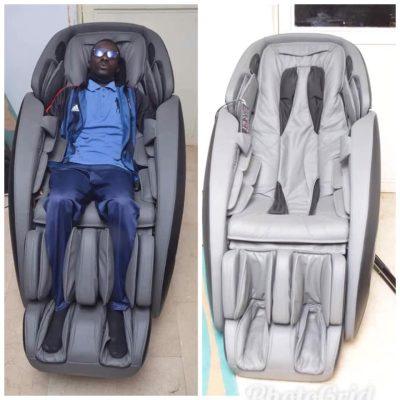Après le lit de massage, Ousmane SONKO reçoit un fauteuil de massage ultra moderne