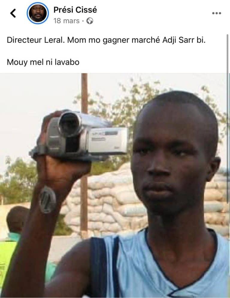 Dernière minute – Affaire Adji Sarr: Prési Cissé placé en garde à vue suite à ses propos contre Dame Dieng (Leral) et Dakaractu