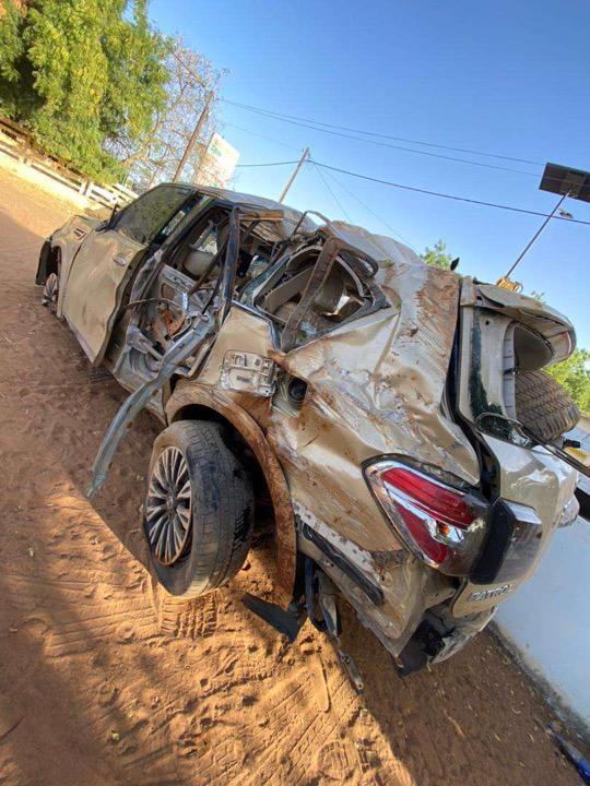 (Photos + Vidéo) - Matam : deux morts dans un grave accident de la voiture de Prince Mbacké