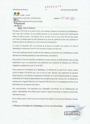 Linguère : Le directeur de l'hôpital Magatte Lô rend sa démission
