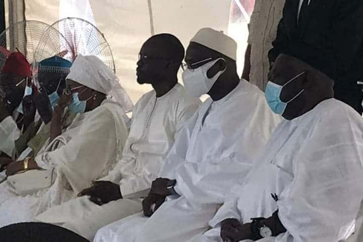 Ousmane Sonko chez le leader de Taxawu Sénégal, Khalifa Sall (photos)