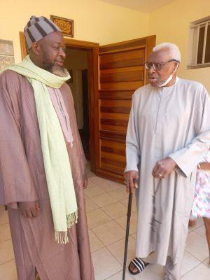 Serigne Abdou Mbacké,Khalife de Baye Cheikh Hady rend visite à Lamine Diack