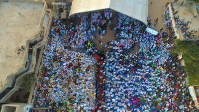 """(Photos) Démonstration de force à Tivaouane: Mobilisation impressionnante du mouvement """"Ande Défar"""" autour d'Abdoulaye Ndiaye Ngalgou"""