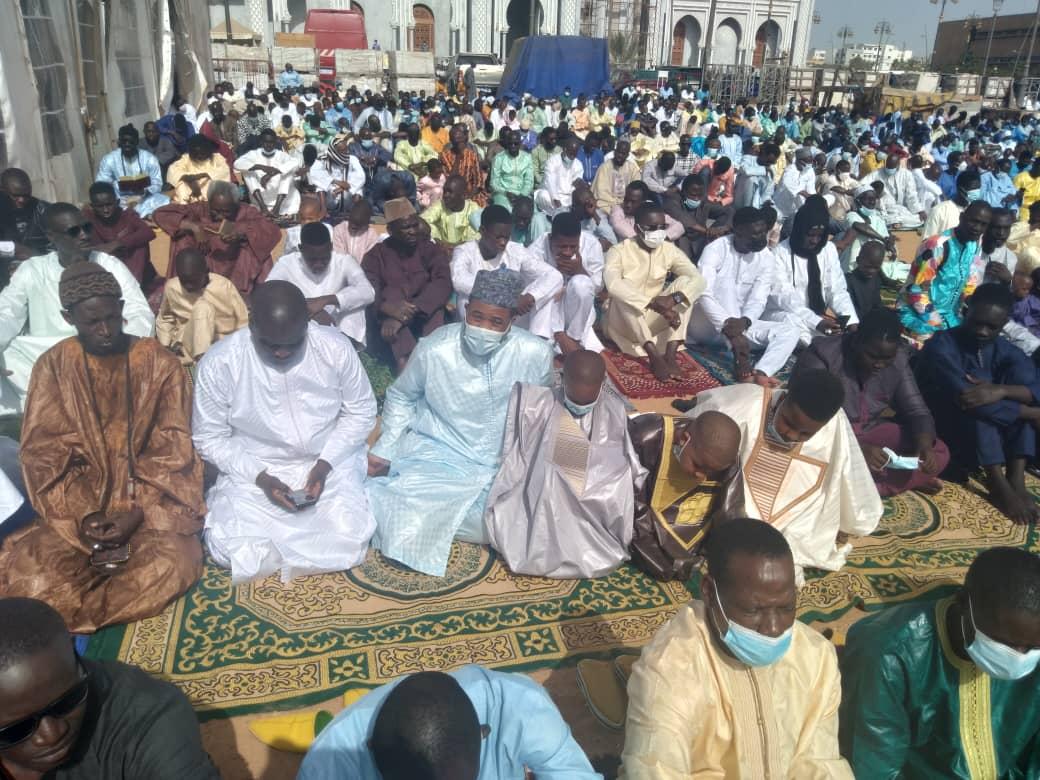 Korité 2021 : Bougane Gueye Dany a effectué la prière à Massalikoul Djinane (En images)