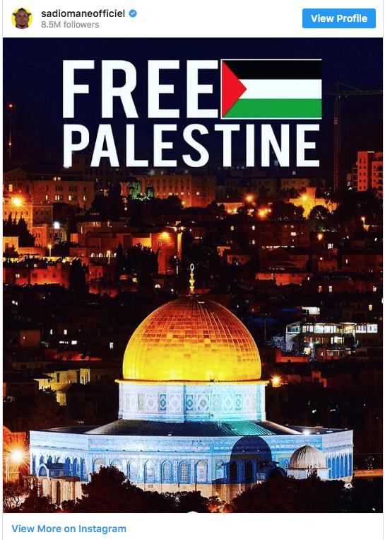 """Sadio Mané manifeste son soutien à la Palestine avec """"le cœur brisé"""""""