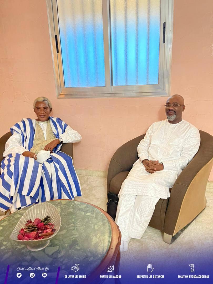 (Photos) Cheikh Ahmed Tidiane Ba dit Messi à Touba chez S. Mountakha et S. Abdou Karim Mbacké